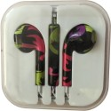 Karp Fancy Printed Designer Earphone For Apple IPhone/Android Mobiles/Tablets With Mic (Abstract) Wired Headset (Multy)