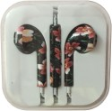 Karp Fancy Printed Designer Earphone For Apple IPhone/Android Mobiles/Tablets With Mic (Nature) Wired Headset (Dark Green)
