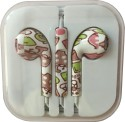 Karp Fancy Printed Designer Earphone For Apple IPhone/Android Mobiles/Tablets With Mic (animated) Wired Headset (Multy)