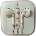 Karp Fancy Printed Designer Earphone For Apple IPhone/Android Mobiles/Tablets With Mic (Small Flower) Wired Headset (Multy)