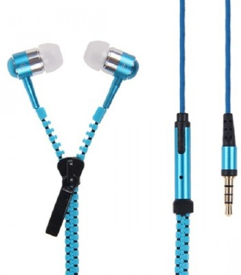 Paracops Zipper Blue Hedphone With Mic