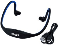 Essot Splash Proof Sports Headpone With FM And Micro SD Support In Wireless Bluetooth Headset With Mic (Blue, Black)