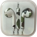Karp Fancy Printed Designer Earphone For Apple IPhone/Android Mobiles/Tablets With Mic (Military Print) Wired Headset (Green)