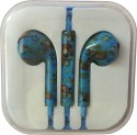 Karp Fancy Printed Designer Earphone For Apple IPhone/Android Mobiles/Tablets With Mic (Blue Santa) Wired Headset (Blue)