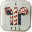 Karp Fancy Printed Designer Earphone For Apple IPhone/Android Mobiles/Tablets With Mic (Strawberry) Wired Headset (Red)