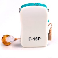 Axon Sound Enhancement Wired Box F-16P In The Ear Hearing Aid (Blue, White)