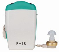 Axon Professional Pocket Wired Sound Amplifier F-18 In The Ear Hearing Aid (Blue, White)