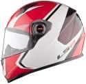 LS2 Corsa Motorsports Helmet - L - Red, Glossy White