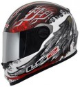 LS2 Duality Air Pump Motorsports Helmet - L - Glossy Red, Green