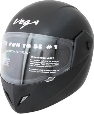 Compare Vega Cliff Motorsports Helmet - M Leather Finish Black at Compare Hatke