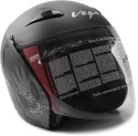 Vega Eclipse Monster Army Motorsports Helmet - M (Dull Black, Silver)