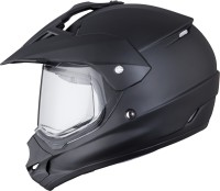 THH Tx-13 Motocross Plain Motorsports Helmet - M (Black)