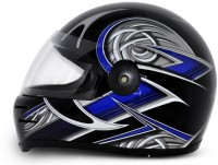 Vega Formula HP Warrior Motorbike Helmet - M (Black, Blue)