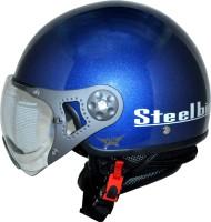 Steelbird SB-27 Style -Flame - Clear Visor Motorbike Helmet - L (Blue)