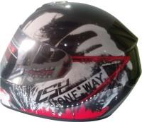 LS2 Ff350 Rookie Motorsports Helmet - L (Black, Red)