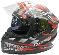 LS2 Ff302 DeCor Motorsports Helmet - L (Black, Red)