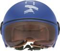 Fastrack Half Face With Visor Motorsports Helmet - Medium - Blue Glossy