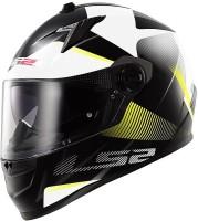 LS2 Ff322 Dual Visor Tyrelle Motorsports Helmet - L (White, Black, Yellow)