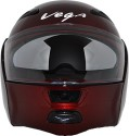 Vega Boolean Motorsports Helmet - M - Burgundy