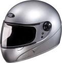Studds Chrome Super Motorsports Helmet - L - Silver Grey