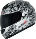 LS2 Lunatic Motorsports Helmet - L - Matt White