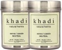 Khadi Khadi Natural Henna - Senna-Cassia Neutral (Twin Pack) - 300 G