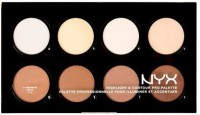Nyx Highlight & Contour Pro Palette Highlighter (Brown)