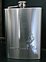 Pia International Embossed Stainless Steel Hip Flask (296 Ml)