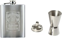Soy Impulse Jack Daniels Stainless Steel Hip Flask With Peg Measurer And Funnel Hip Flask (236 Ml)