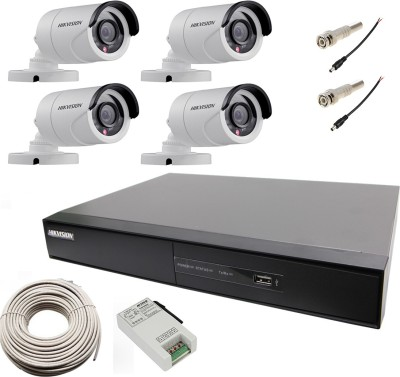 Hikvision DS-7204HGHI-SH 4-Channel Hybrid Video Recorder 4 Bullet IP Cameras