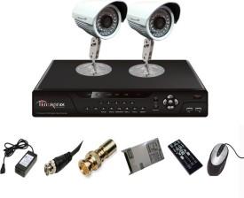Tentronix T-4CH-2-B8 4Channel DVR + 2 (800TVL) IR Bullet Outdoor Cameras