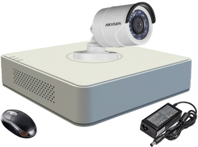 Hikvision DS-7104HGHI-E1 4-Channel DVR 1 (DS-2CE16COT-IR) Bullet Camera (With Adapter & Mouse)