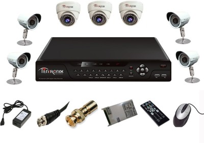 Tentronix T-8CH-7-D3B48 8Channel DVR + 7 CCTV Cameras