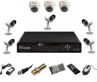 Tentronix T-8AVR-8-D3B510 8-Channel AHD DVR 3 (1 MP 36 IR Dome ) 5 (1 MP 36 IR Bullet) Cameras