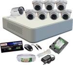 Hikvision HDTVI Full Combo, Turbo IR Dome Camera 7Pcs & Bullet Camera 1Pcs + Active Cable + F1 Mini DVR