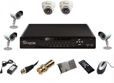 Tentronix-T-8AVR-5-B3D210-8-Channel-AHD-DVR-+-2-(1-MP-36-IR-Dome)-+-3-(1-MP-36-IR-Bullet)-Cameras