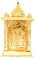 Ankit Enterprises Tirupati Balaji Small Gold Plated Brass Home Temple (Height: 12 Cm)