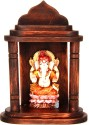 Adaa Lord Ganesh Sitting On Lotus Polyresin Home Temple (Height: 16.5 Cm)
