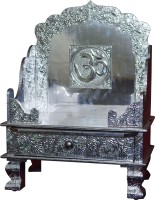 Pavitra Mandir 15 X 9 Aluminium Singhasan With Tray & Drawer Wooden, Aluminium Home Temple (Height: 24 Cm)