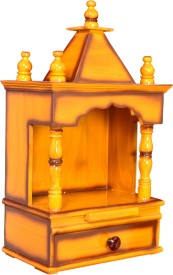 M K Enterprises Wooden Home Temple