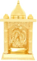 Ankit Enterprises Shivparivaar Small Gold Plated Brass Home Temple (Height: 12 Cm)