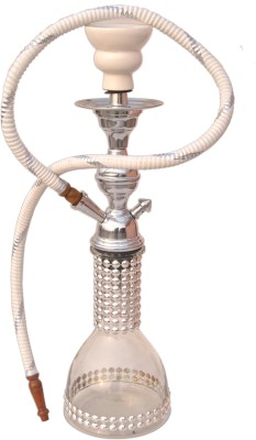 Get best deal for Being Nawab Clear Glass Decor Base 17 inch Glass Hookah White at Compare Hatke