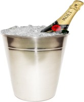 King Traders KIng Traders Stainless Steel Wine Bucket /Champagne Bucket Stainless Steel Ice Bucket (Grey 2 L)