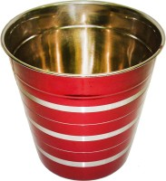 King Traders King Traders Stainless Steel Red Silver Lining Wine Bucket Stainless Steel Ice Bucket (Red 2 L)