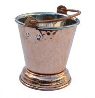 Veda Home & Lifestyle Copper Steel Serving Bucket Small Copper Ice Bucket (Brown 0.300 L)