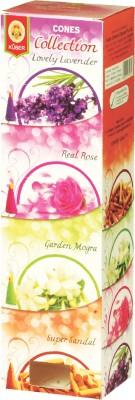 Kuber ConesCollection Lavender,Rose,Mogra,Super Sandal Incense Sticks