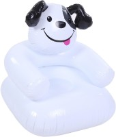 Yash Novelty Happy Puppy (Junior) For Kids Inflatable Chair (White)