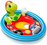 Intex Intex Turtle See Me Sit Ring Inflatable Baby Float (Multicolor)