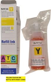 Anjani Toners Cartridges Epson L100/L200/L210/L300/L350/L355/L455/L550/L555 Yellow Ink (Yellow)