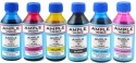 Ample India 100ML Compatible For Epson L100,L110,L200,L210,L300,L350,L355,L550,L555 Black,Yellow,Magenta,Cyan,Light Magenta & Light Cyan Ink (Black, Yellow, Magenta, Cyan, Light Magenta, Light Cyan)